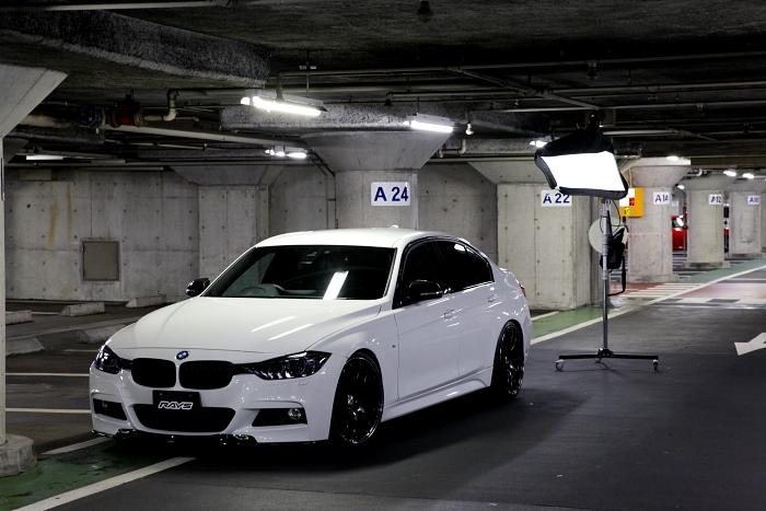 BMW F30/320d & RAYS撮影+プロテクションフィルム施工!!