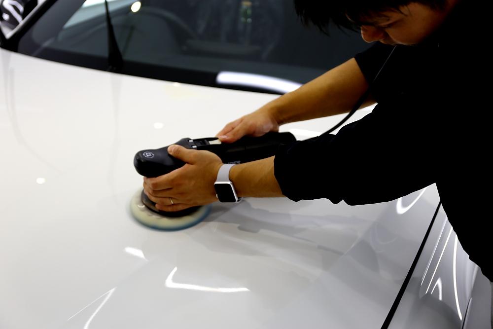 BMW F30/320d & 鏡面磨き+mp+コーティング+RAINコーティング+プロテクション・フィルム再施工!!