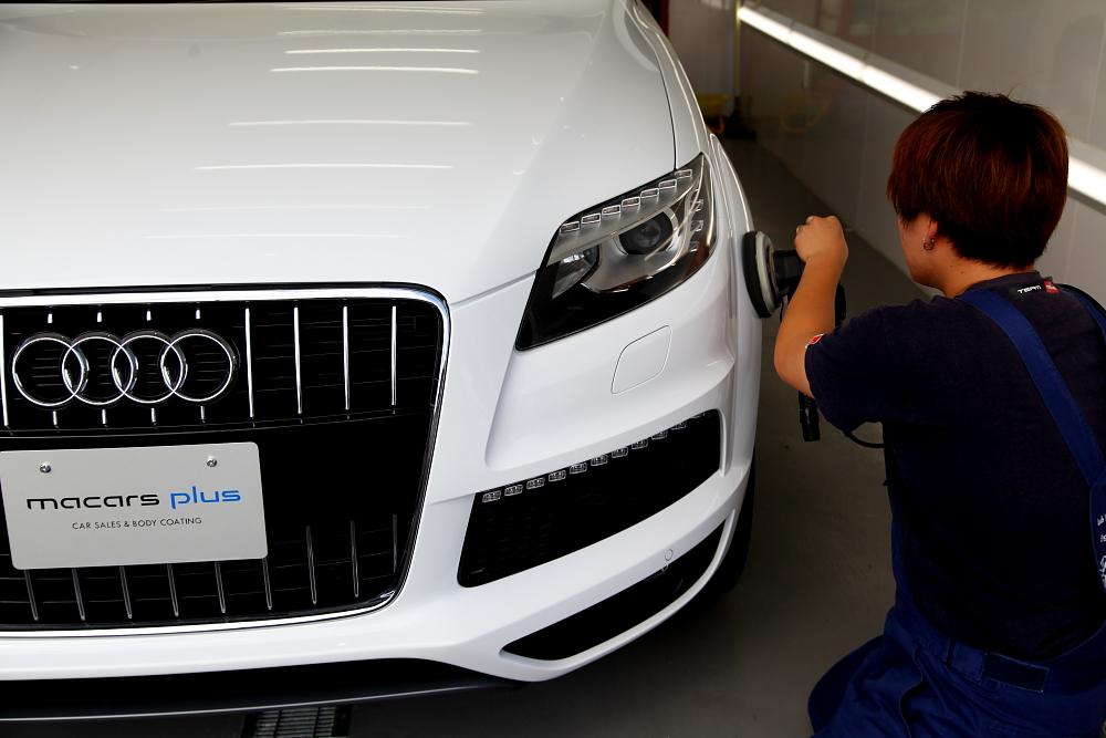 Audi Q7/3.0T & 車両販売+ボディ磨き・ガラスコーティング施工!!