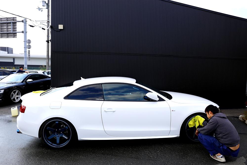 台風明けは洗車!!