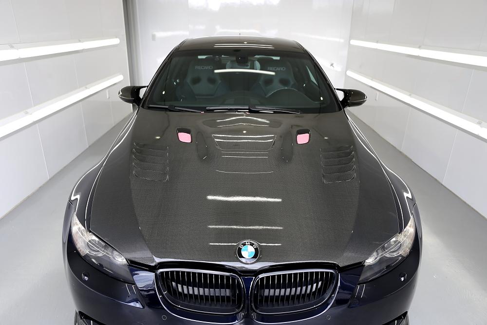 BMW E92/M3 & カーボンパーツ磨き・コーティング施工!!