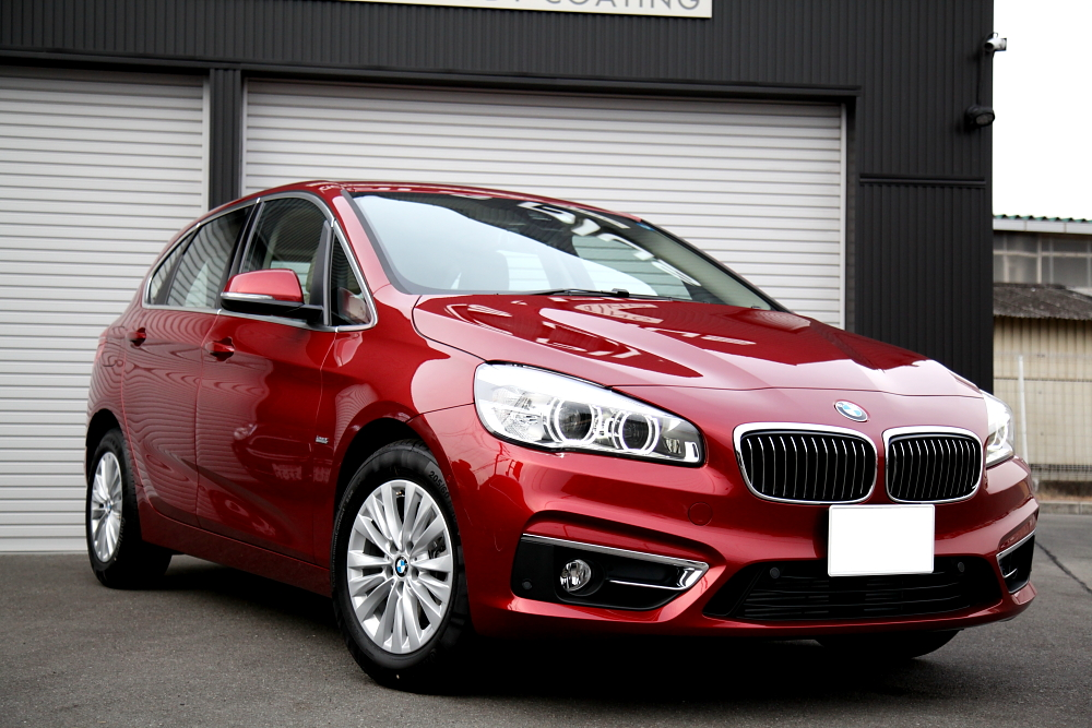 BMW 2シリーズアクティブツアラー & 鏡面磨き+コーティング施工!!