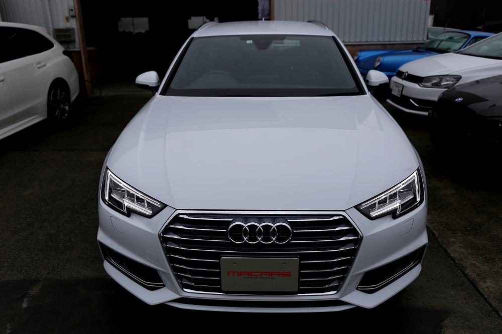 Audi A4/B9 S-LINE Avant & 磨き・コーティング施工+レーダー+コーディング+KAROマット+フィルム施工!!