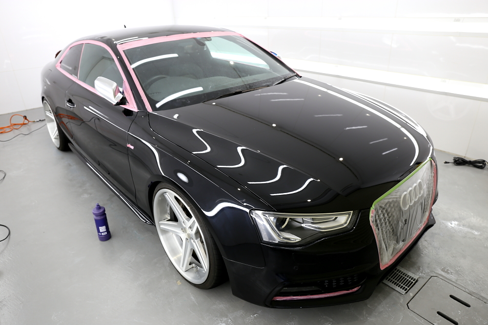 Audi A5/B8.5 Coupe S-LINE & 鏡面磨き施工+コーティング施工+祝納車!!