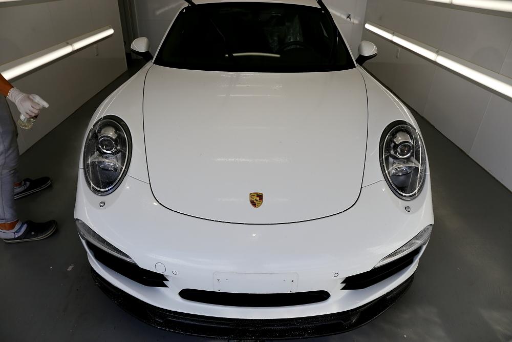 Porsche911/991カレラS & 磨き施工・プロテクション・フィルム・レザーコーティング施工!!