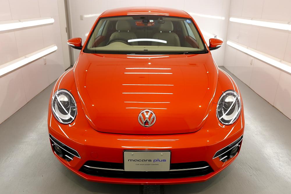 VW THEビートル & レザーコーティング施工+CERAMIC PRO PLASTIC施工!!