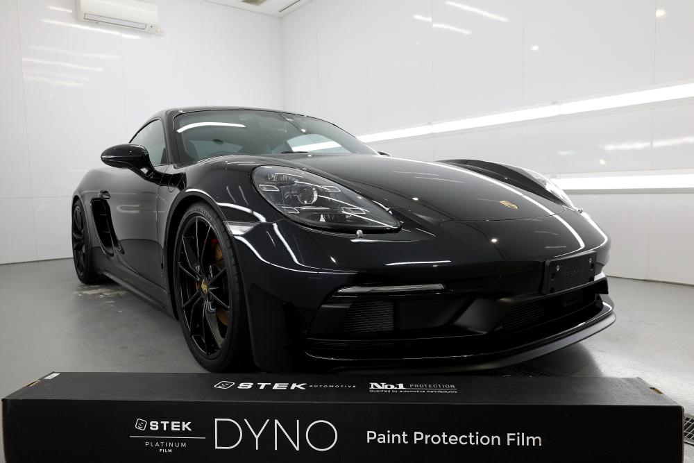 Porsche 718/Cayman S &  STEK DYNOshield+フロントバンパー・ヘッドライト施工!!